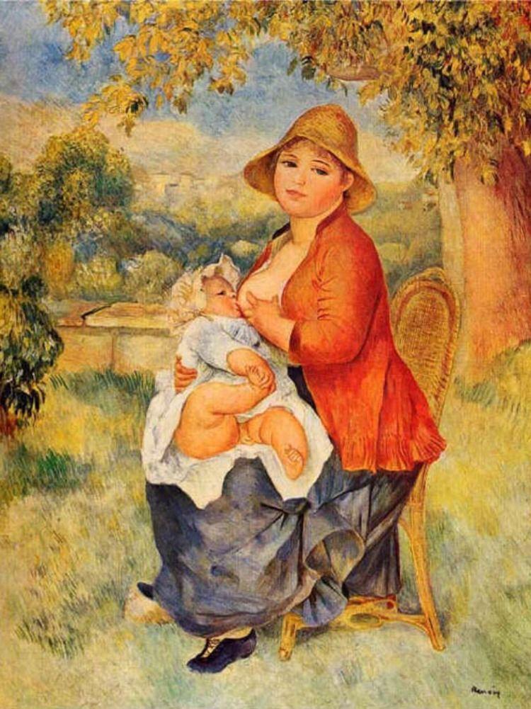 7 Tableaux D Allaitement Renoir Pierre Auguste Renoir Peintures Renoir