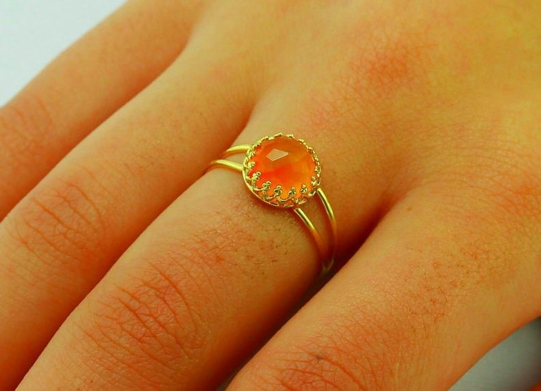 Carnelian Ring - gemstone ring