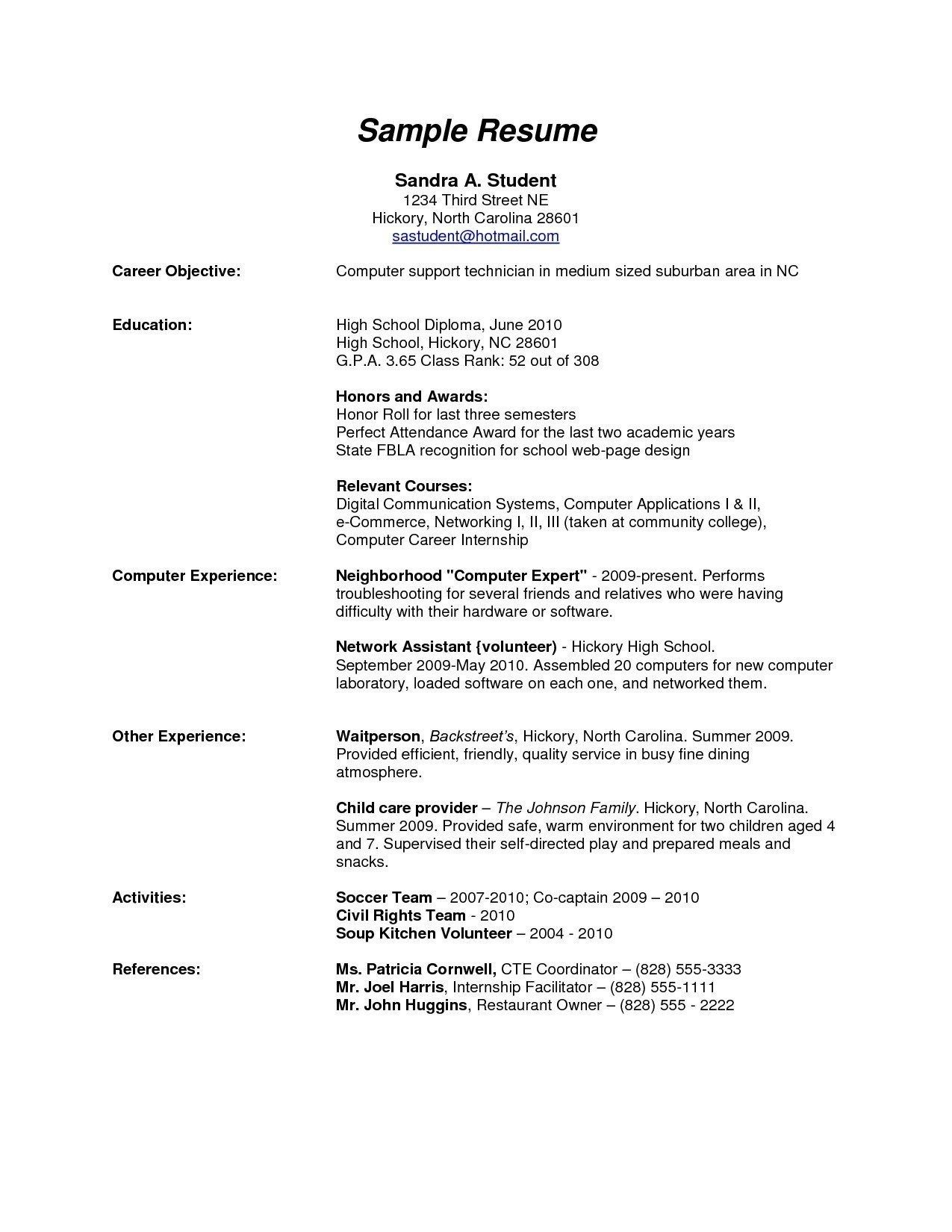 high school graduate resume template download  u2013 resume
