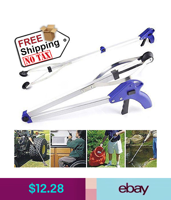 12 28 Reacher Grabber Aid Pick Up Trash Tool Suction Cup Grip