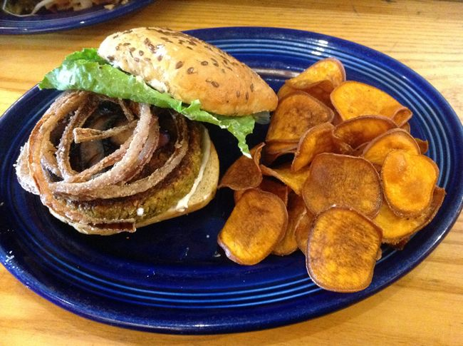 Rosettas Kitchen Veggie Burger Special Feeding the Hungry In Asheville, NC