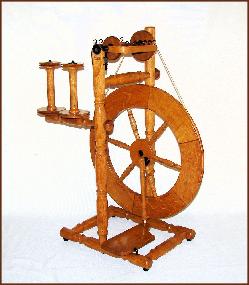 rare@ louet s70 solid oak spinning wheel, lazy kate, 3