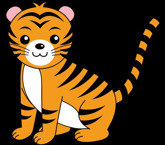 My Free Clip Art Of A Cute Orange Tiger Animal Clipart Free Cute Animal Clipart Animal Clipart
