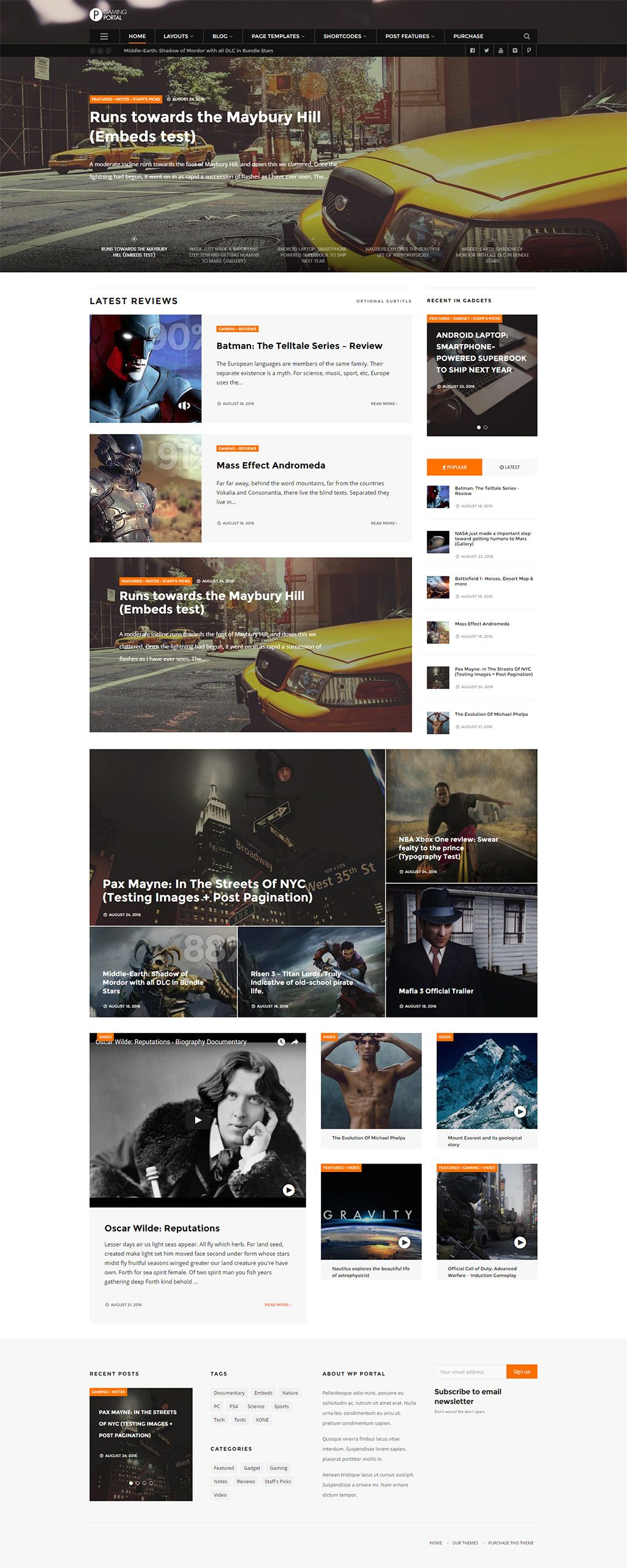 WP Portal - Review, Gaming, Technology and Viral WordPress theme ...