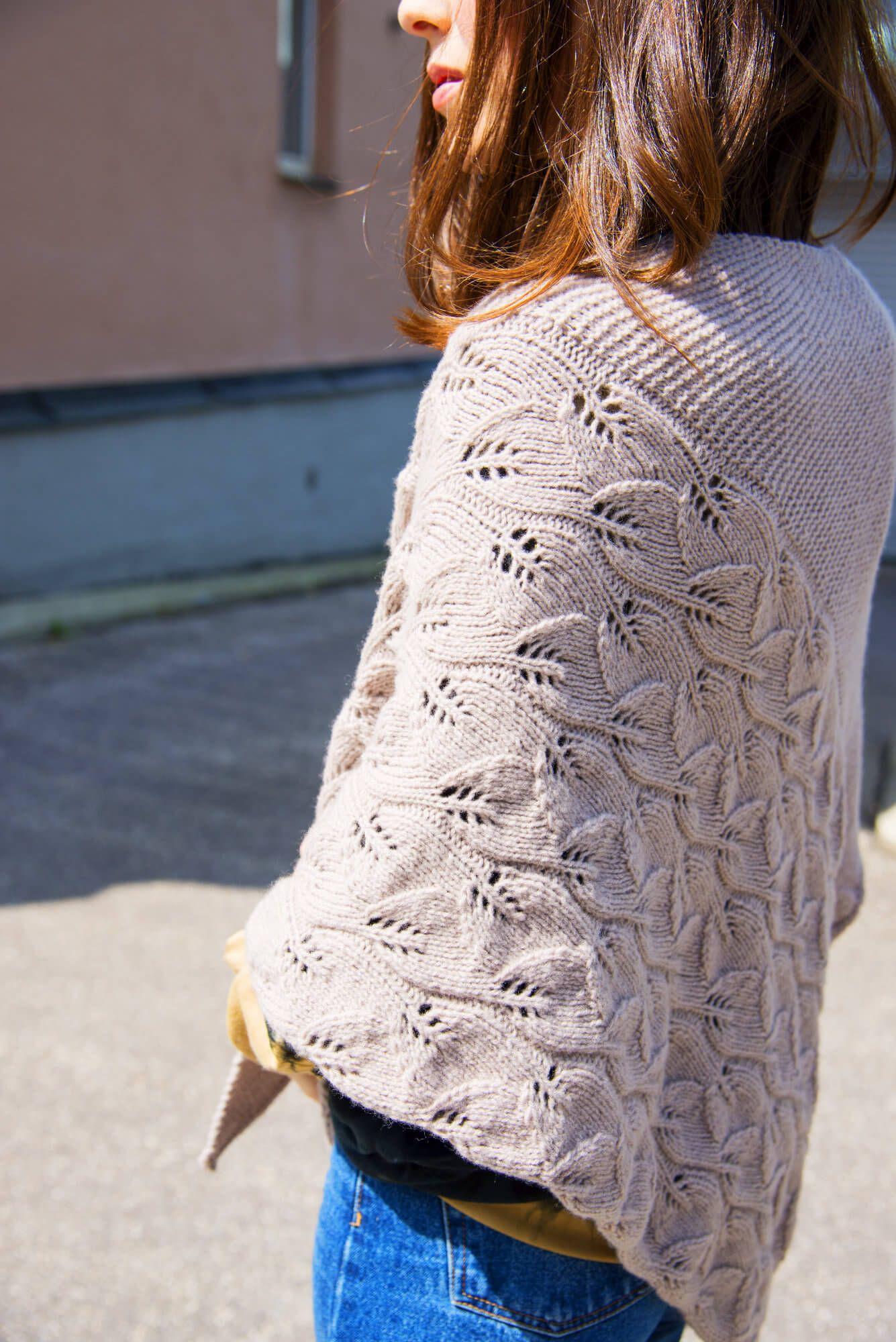 Photo of Leaf pattern cloth Montani – free knitting instructions