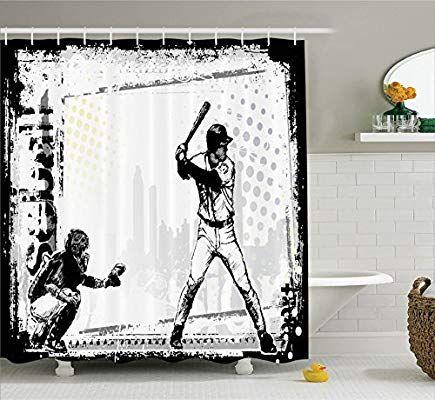 Amazon.com: Ambesonne Sports Decor Collection, Baseball ...