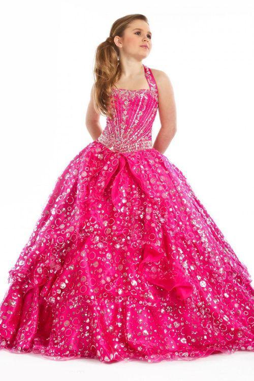 vestido-largo-color-rosa | vestidos de fiesta para niñas | Pinterest ...