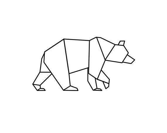 Inspiration Origami Bear Geometric