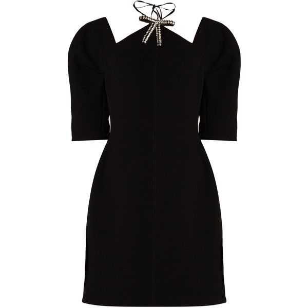 Marni Crystal Bow Bonded Crepe Dress 2 290 Liked On Polyvore Featuring Dresses Crepe Fabric Dress Crepe Stylist Outfit Dresses Clothes Design