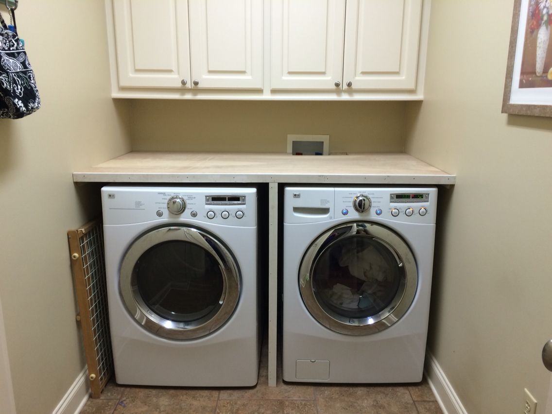 - Folding Table Built Over Washer And Dryer. Still Needs To Be