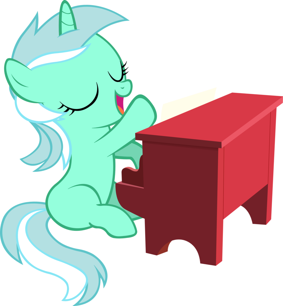 filly lyra playing piano vector by artpwny deviantart com on rh pinterest com Music Notes Graphics Music Note Clip Art