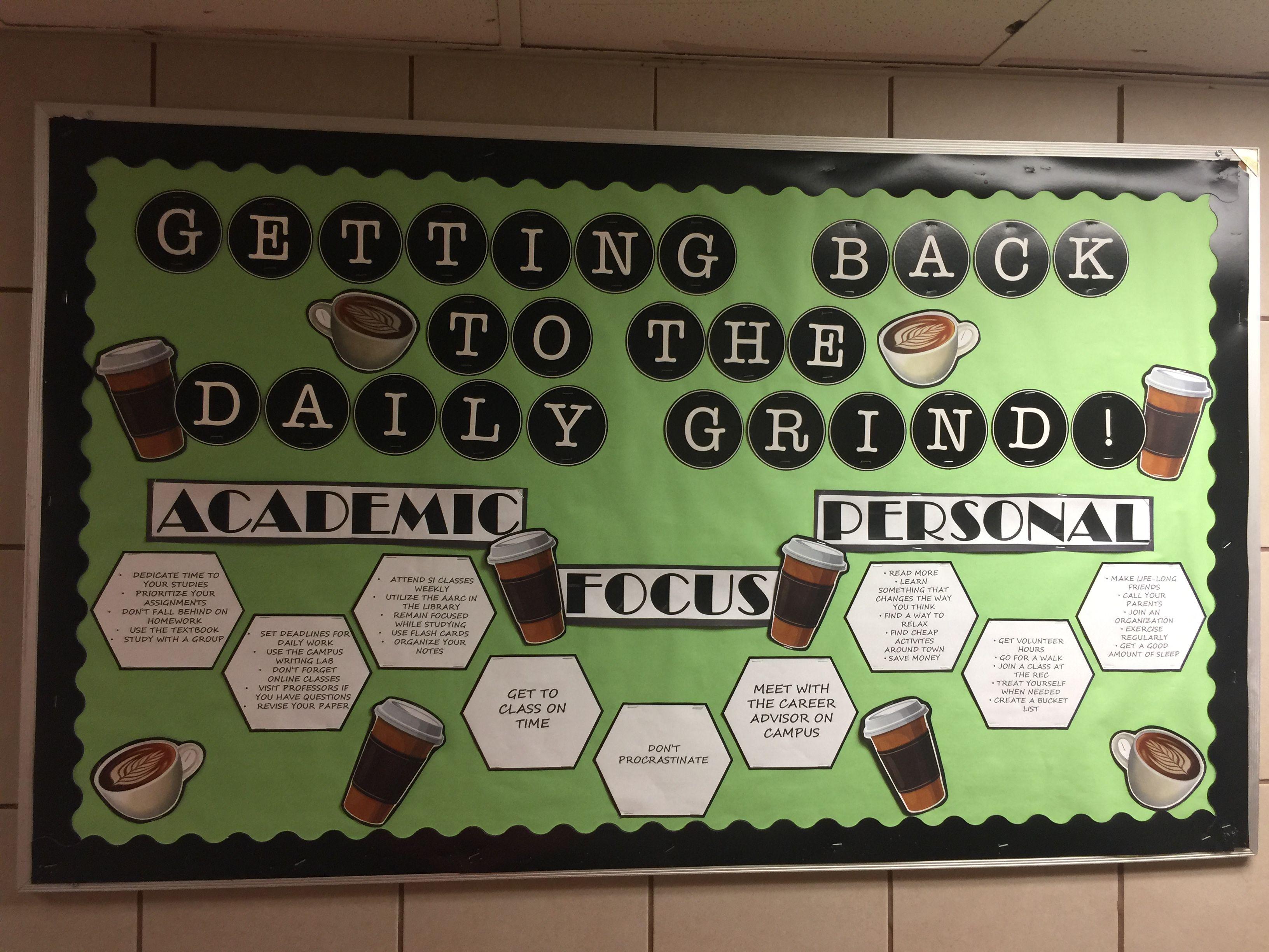 Daily Grind Goal Setting Coffee Bulletin Board College