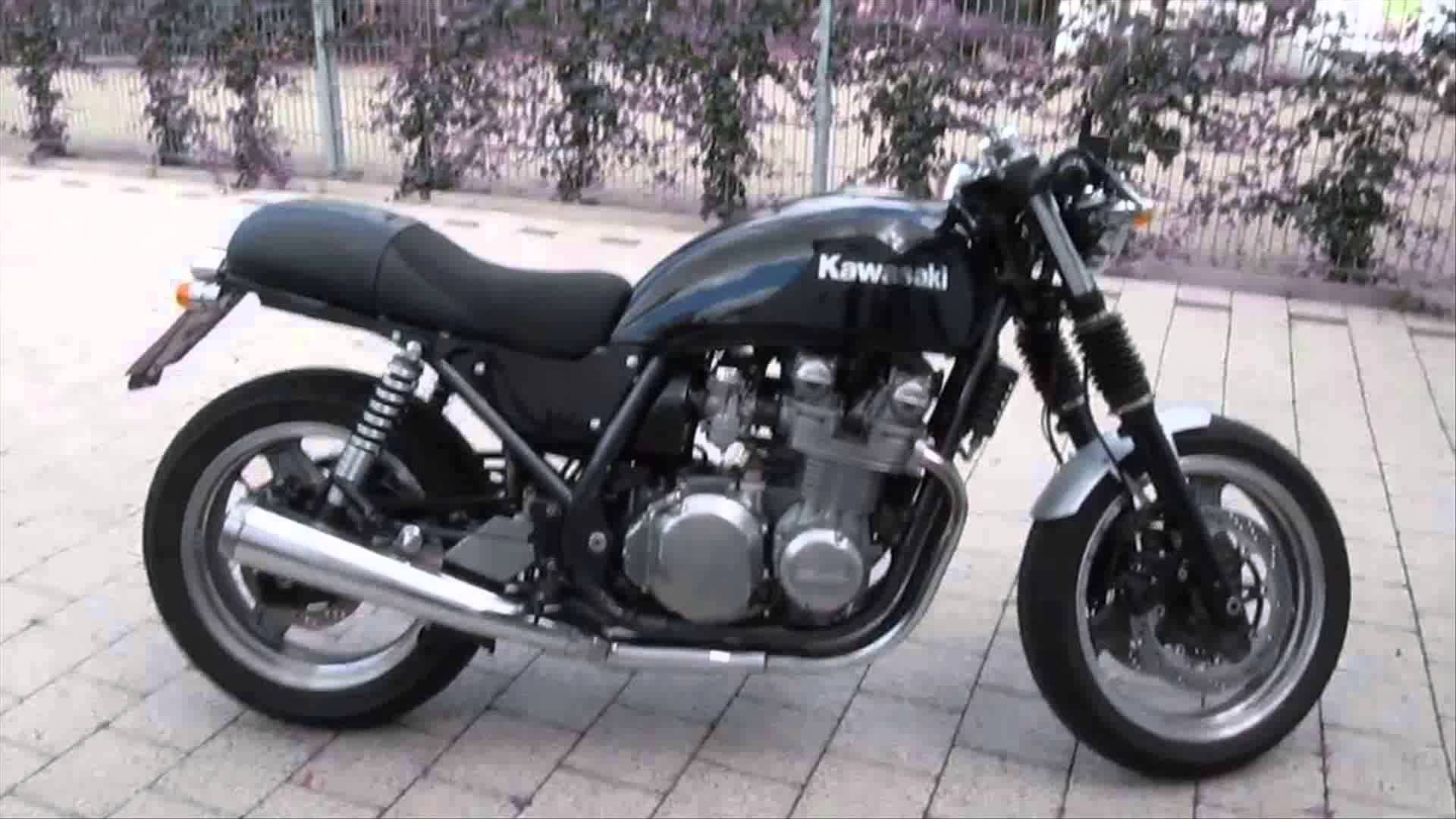 Kawasaki Zephyr 750 Cafe Racer Auspuff Parts Test