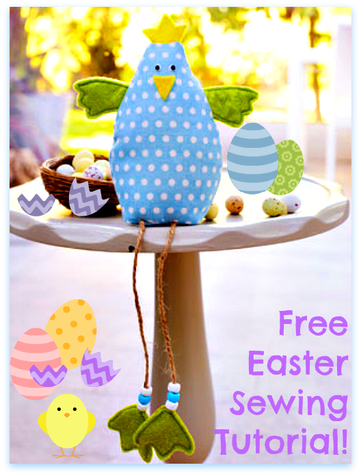 Stitch up an easy easter chick decoration and some easter eggs stitch up an easy easter chick decoration and some easter eggs free sewing tutorials negle Images