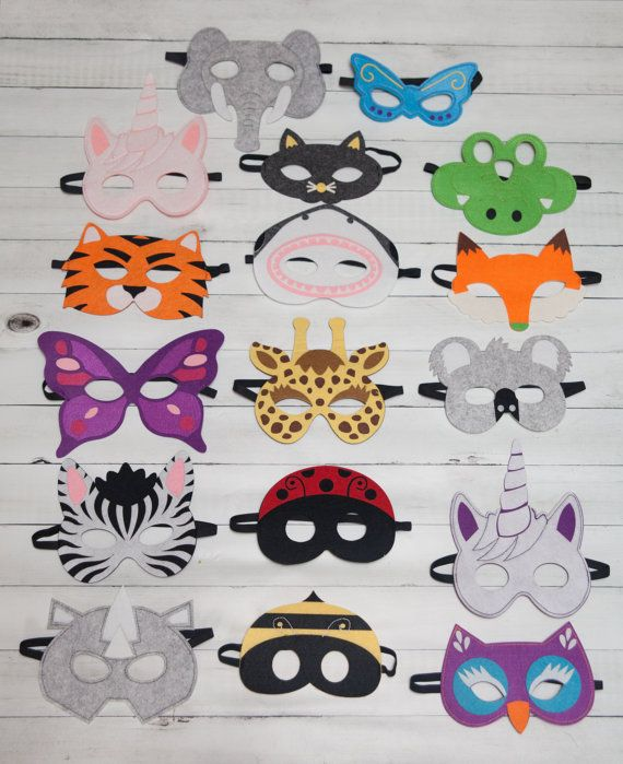 Animal Masks For Children Party Favor Zoo Safari Party