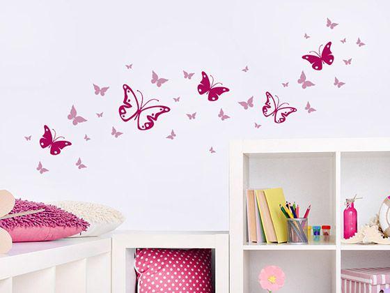 Wandtattoo Zweifarbiges Schmetterlinge Set Wandtattoo De Wandtattoo Madchenzimmer Wandtattoo Kinderzimmer Kinder Zimmer