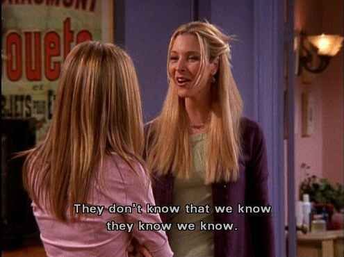 When Rachel said she was over Ross.