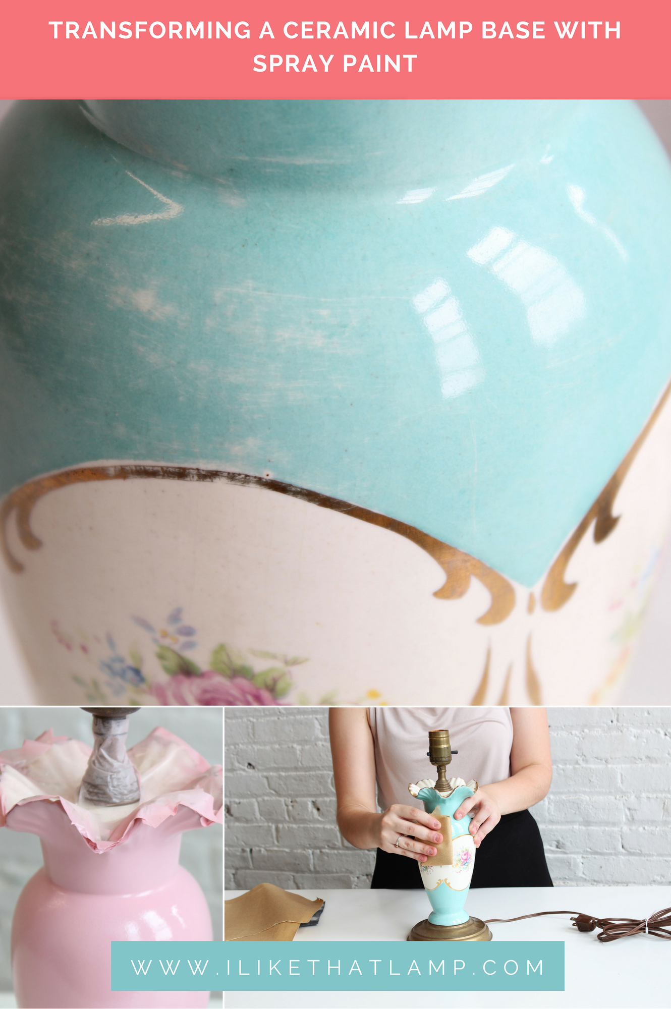 Easy Old Lamp Diy Makeover Transforming A Ceramic Lamp Base With