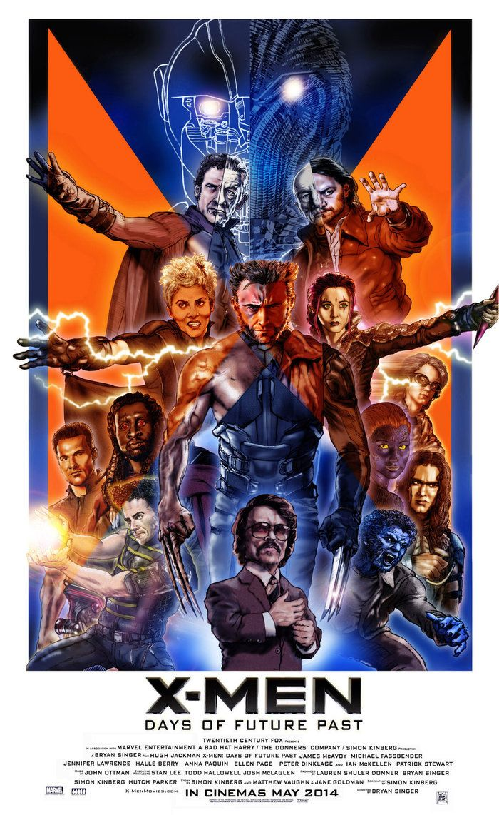X Men Days Of Future Past Poster By N8ma On Deviantart X Men Days Of Future Past Marvel Movie Posters