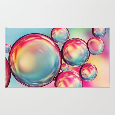 Rainbow Oil Drops II Area & Throw Rug by Sharon Johnstone - $28.00