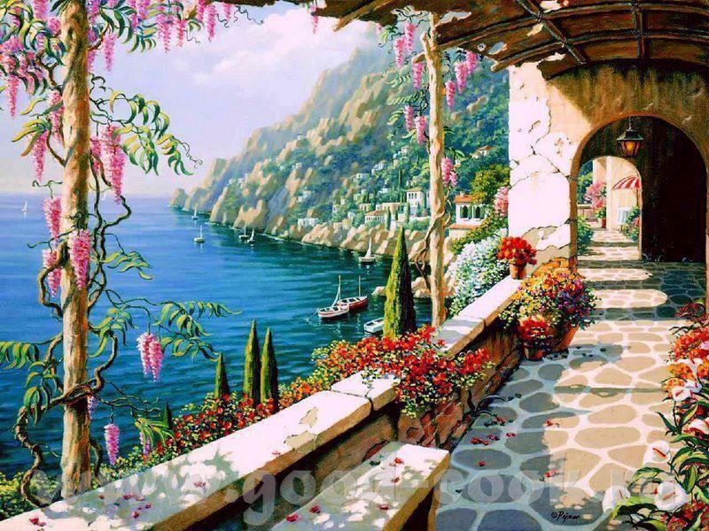 Amalfi Coast Italien Kunst La Villa