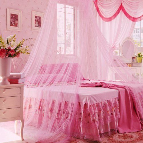 #kids Made of high quality #see-through mesh cloth The foldable ring is & Icibgoods Dome Bed Canopy Netting Princess Mosquito Net for Babies ...