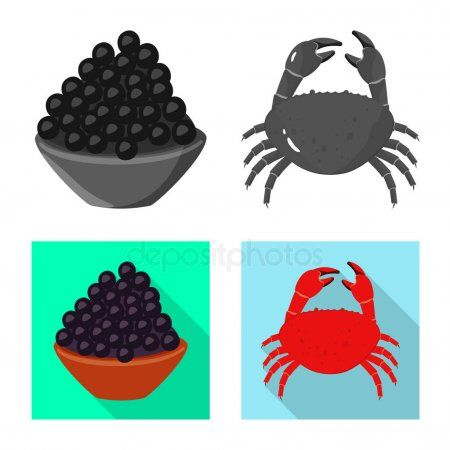 Vector illustration of taste and product icon Collection of taste and cooking v