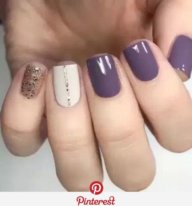 Amazing Purple Nail Color Idea Esmalte De Unas Blancas Manicura De Unas Decorados Para Unas Cortas