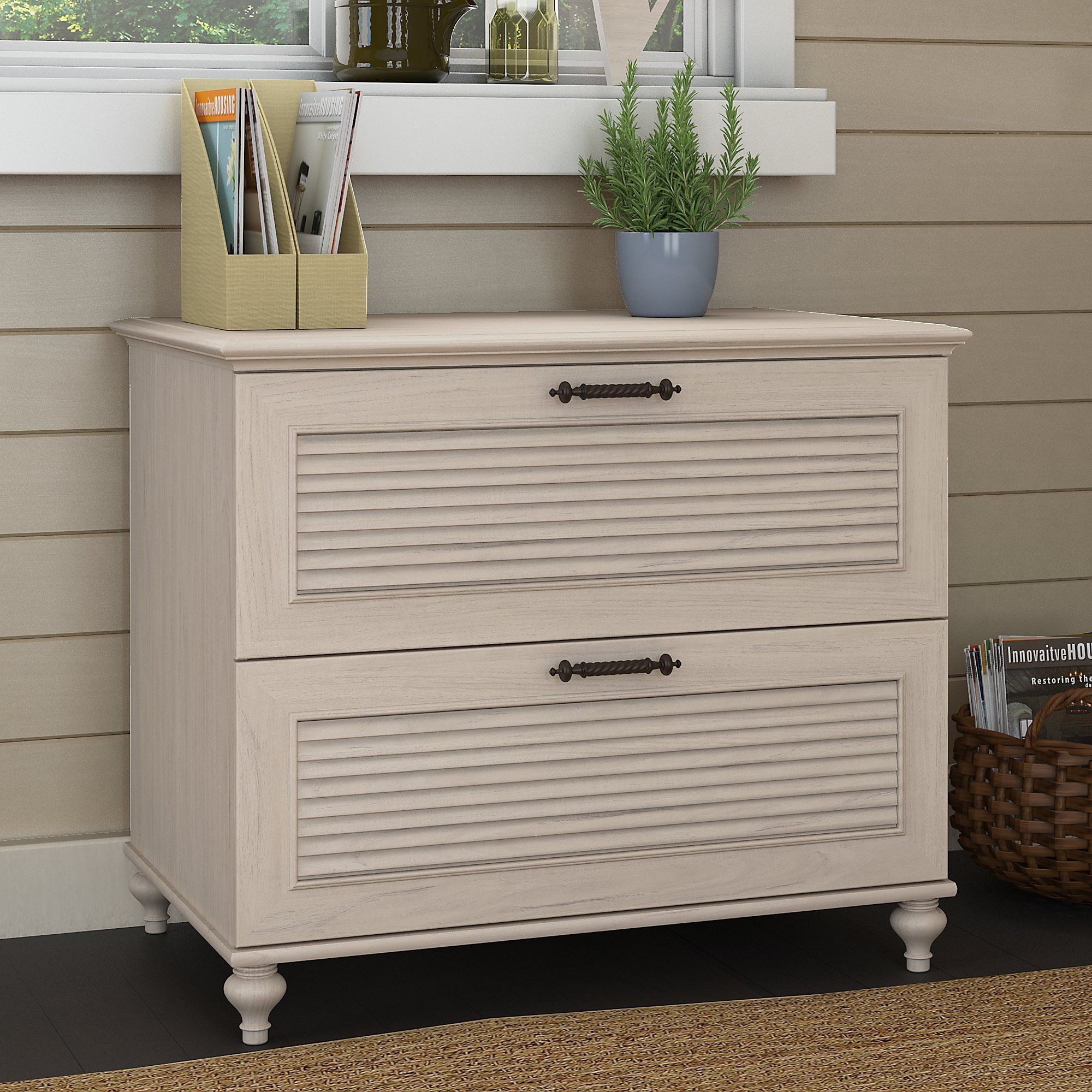 Driftwood White 2 Drawer Wood Lateral File Cabinet Volcano Dusk In 2020 Filing Cabinet Home Office Furniture Lateral File