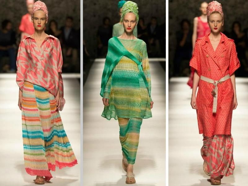 MISSONI - Turbans und breite Maxi-Röcke