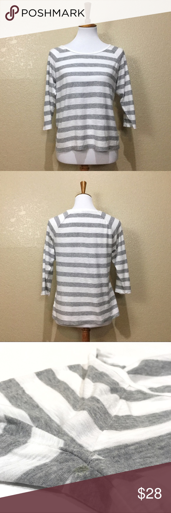 Standard James Perse Raglan Dolman Striped Tee Standard James Perse
