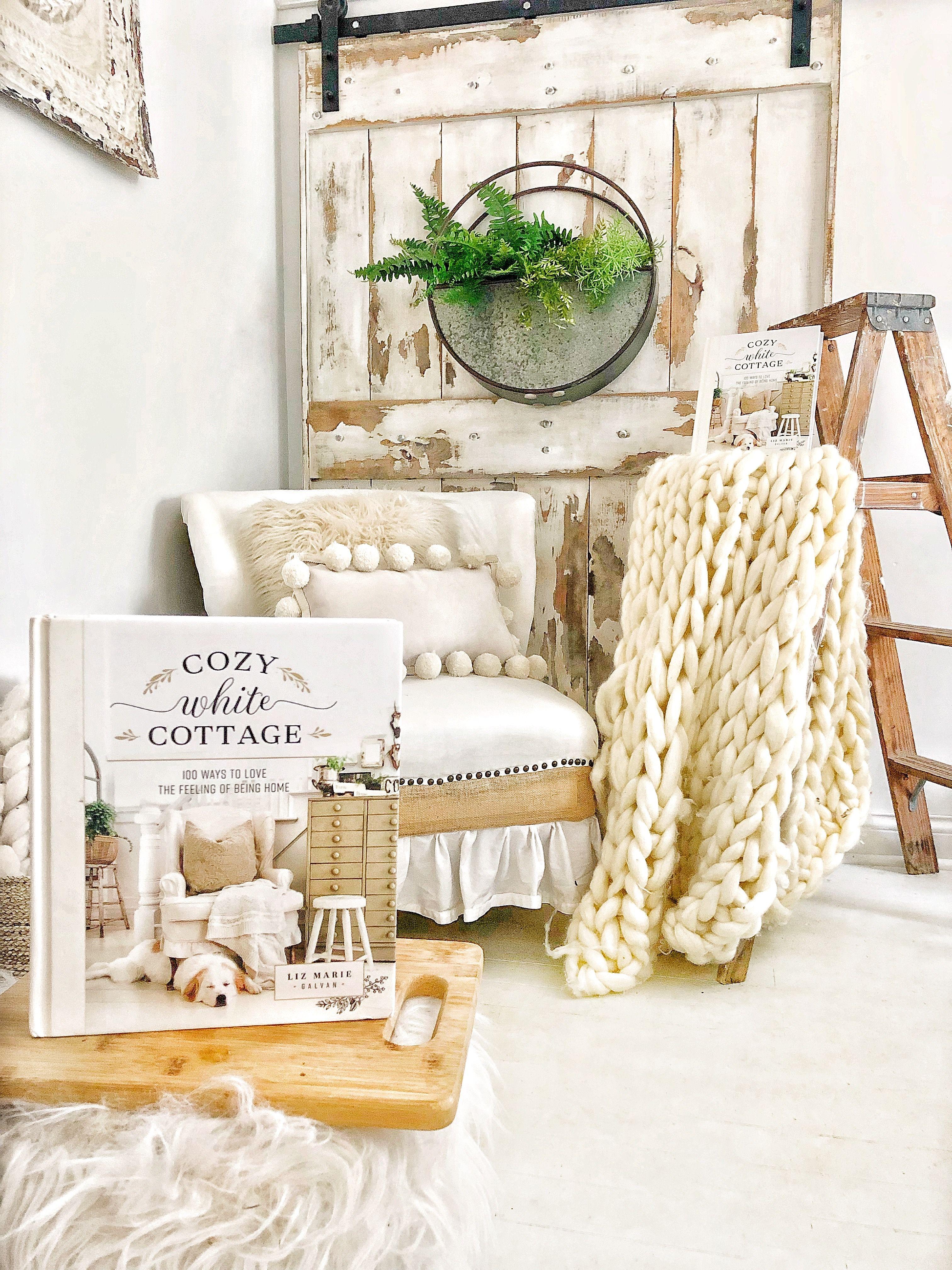 Liz Marie Galvan Cozy Feels White cottage, Modern