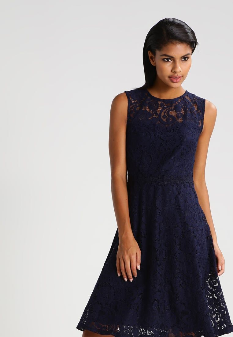 dorothy perkins sukienka letnia - navy blue - zalando.pl