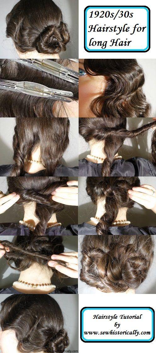 Photo of 1920er / 30er Frisur Tutorial für langes Haar – 1920er Frisuren – # 1920er # 1920er30er …
