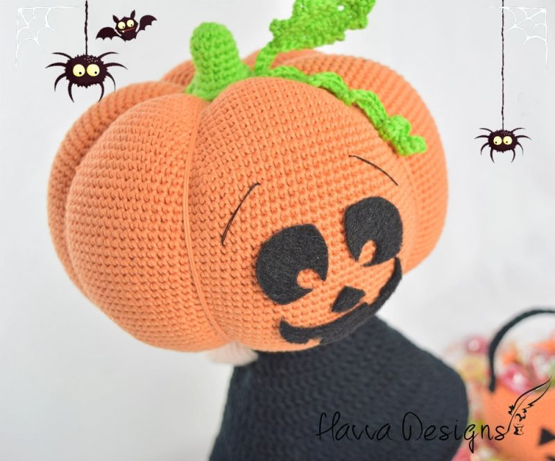 Pumpkin Head Doll Amigurumi Pattern By Havva Designs
