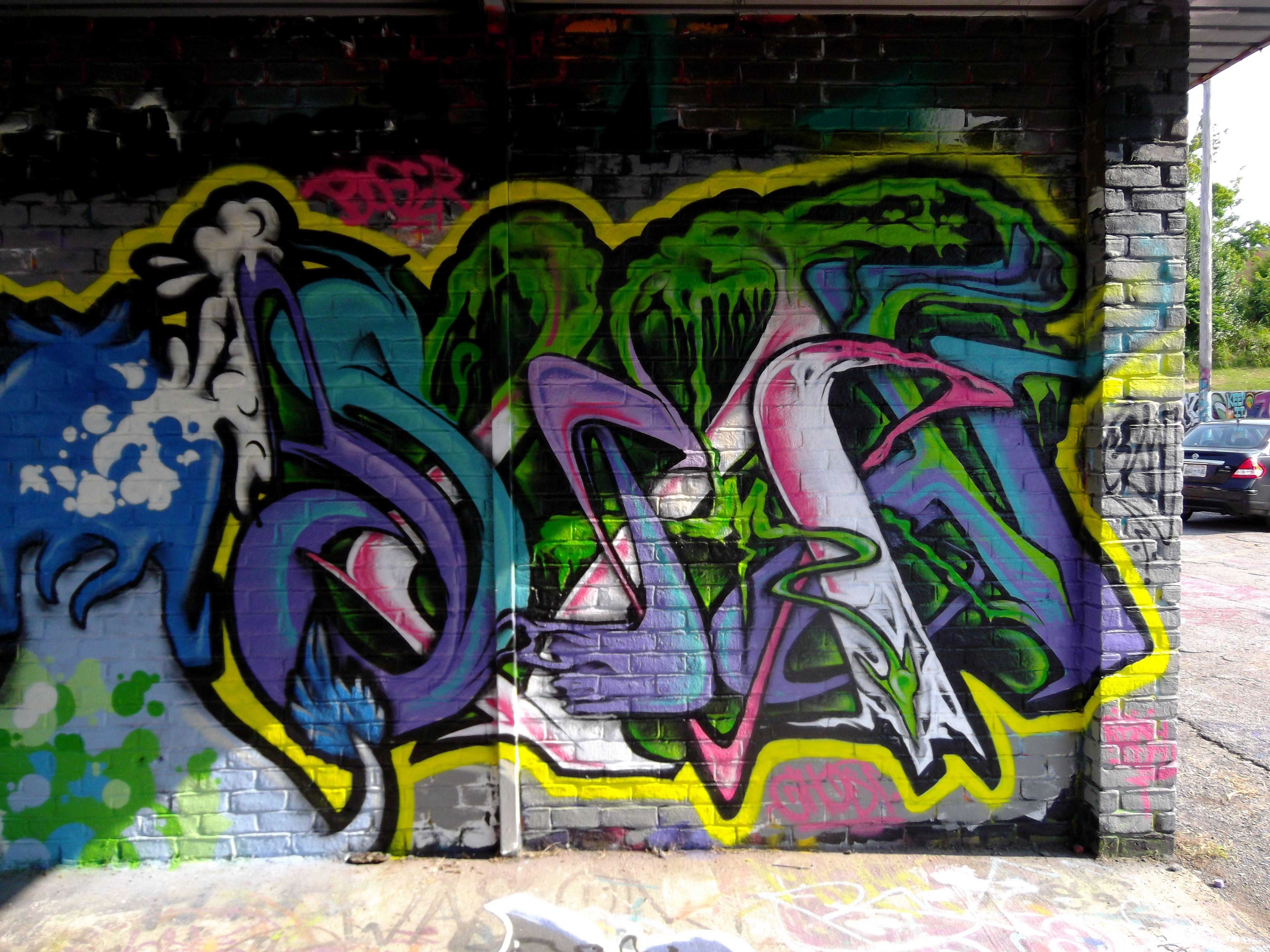 SKAN-graffiti- Nashville TN- washyard paint jam 2013
