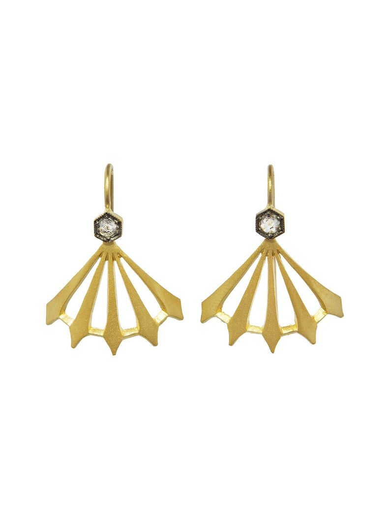be16285602180 Diamond Big Top Earrings - Yellow Gold | Cathy Waterman | Gold ...