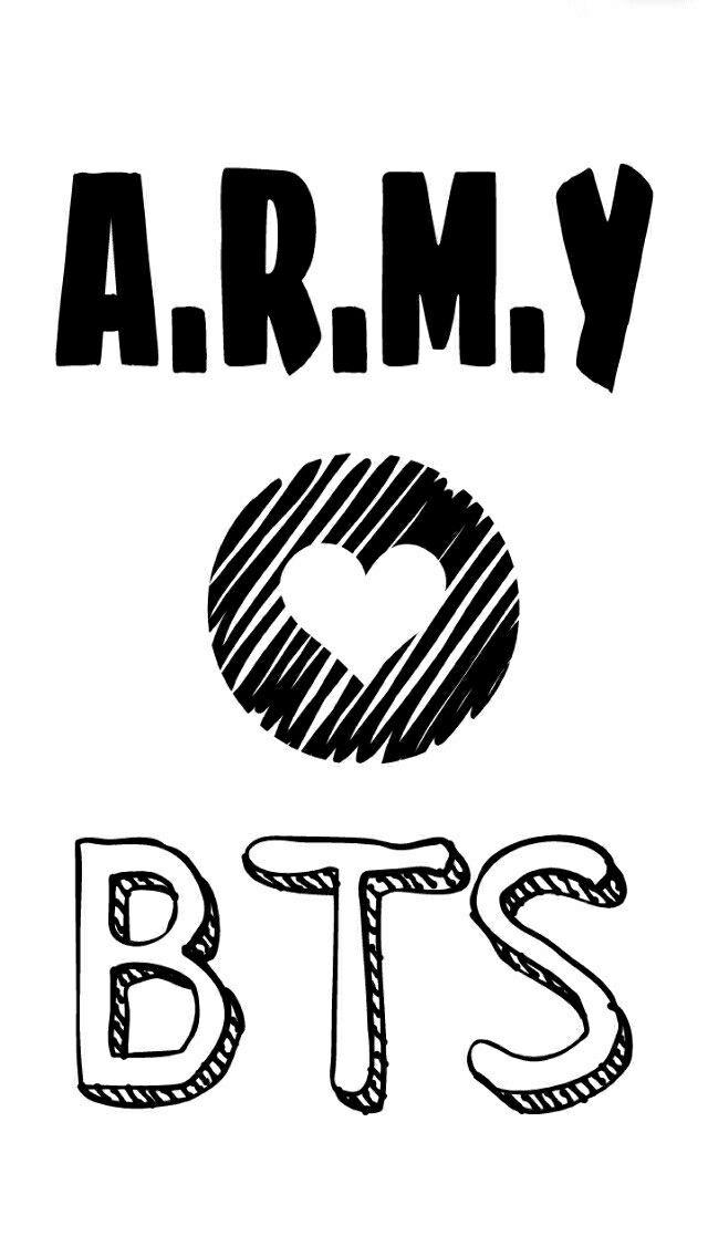 Army Bts Wallpaper Pinterest Gambar Logo