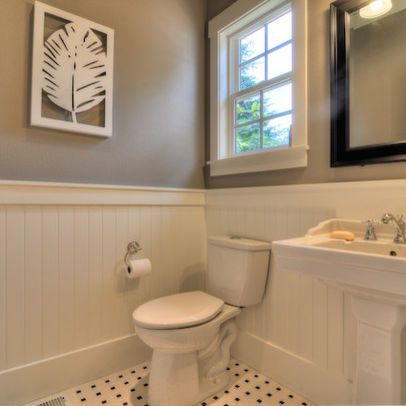 Powder Room Wainscoting Design Pictures Remodel Decor And