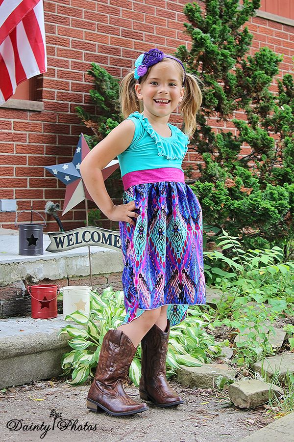 Create Kids Couture - Flora\'s Flowing Summer High-Low Dress PDF ...