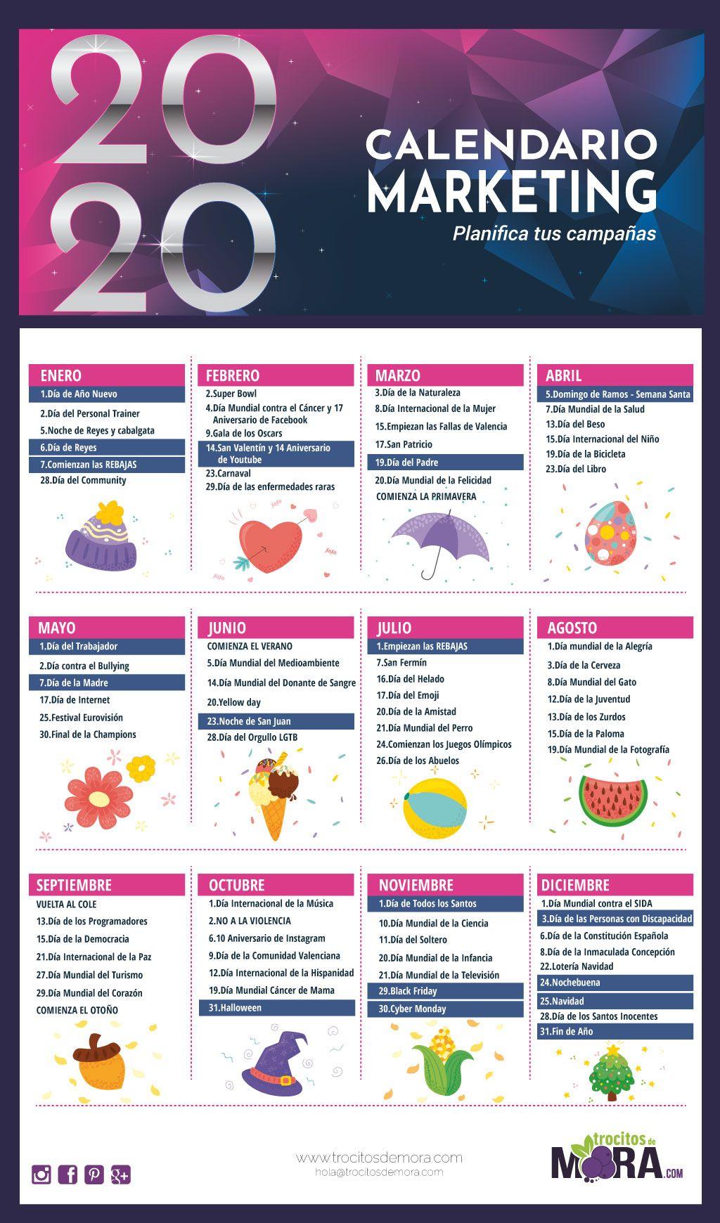 Calendario De Marketing En 2020 Marketing Redes Sociales Dia Internacional Del Nino