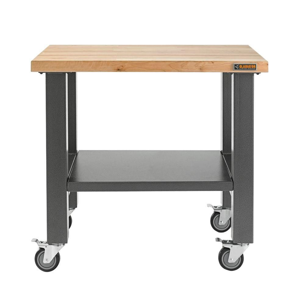 Outstanding Gladiator 3 Ft Mobile Workbench With Hardwood Top Office Forskolin Free Trial Chair Design Images Forskolin Free Trialorg