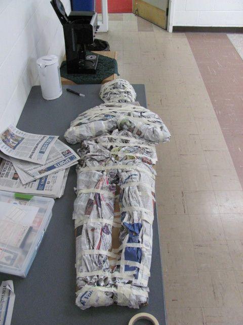newspaper mummy Dig Up a Good Book Pinterest Newspaper, The