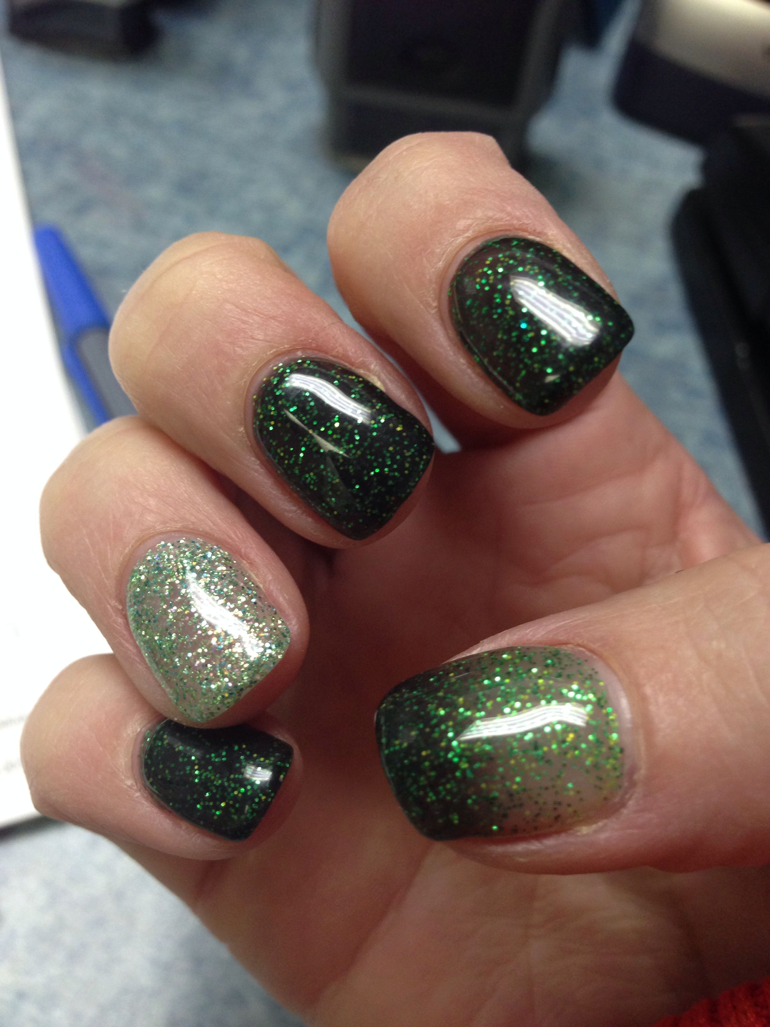 Gel nails done March 11, 2014. In spirit of St Patty\'s month! Done ...