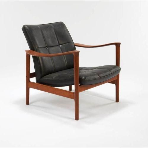 """Torbjorn Afdal; The """"Oxhide"""" Chair for George Jensen, c1963."""