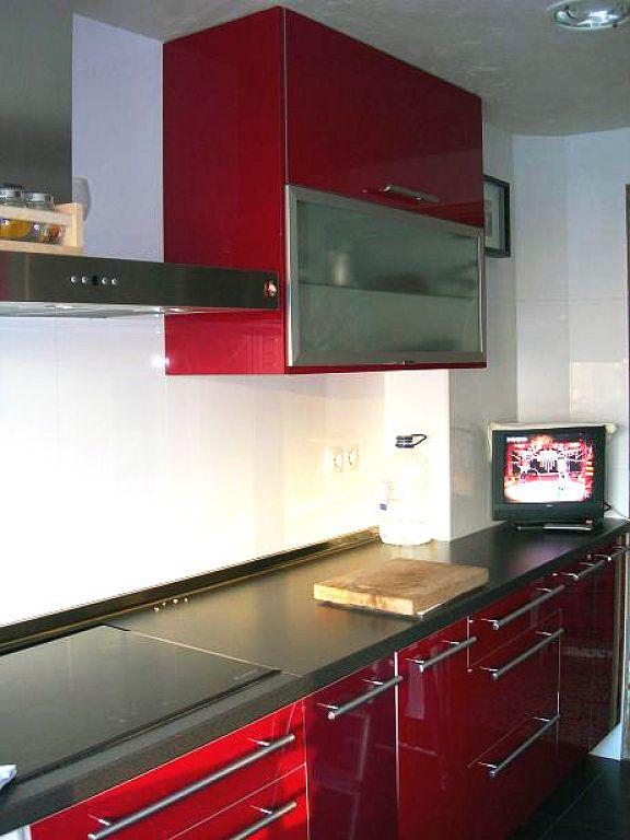 cocinas rojas y negras Diseño de la Cocina cocinas Pinterest