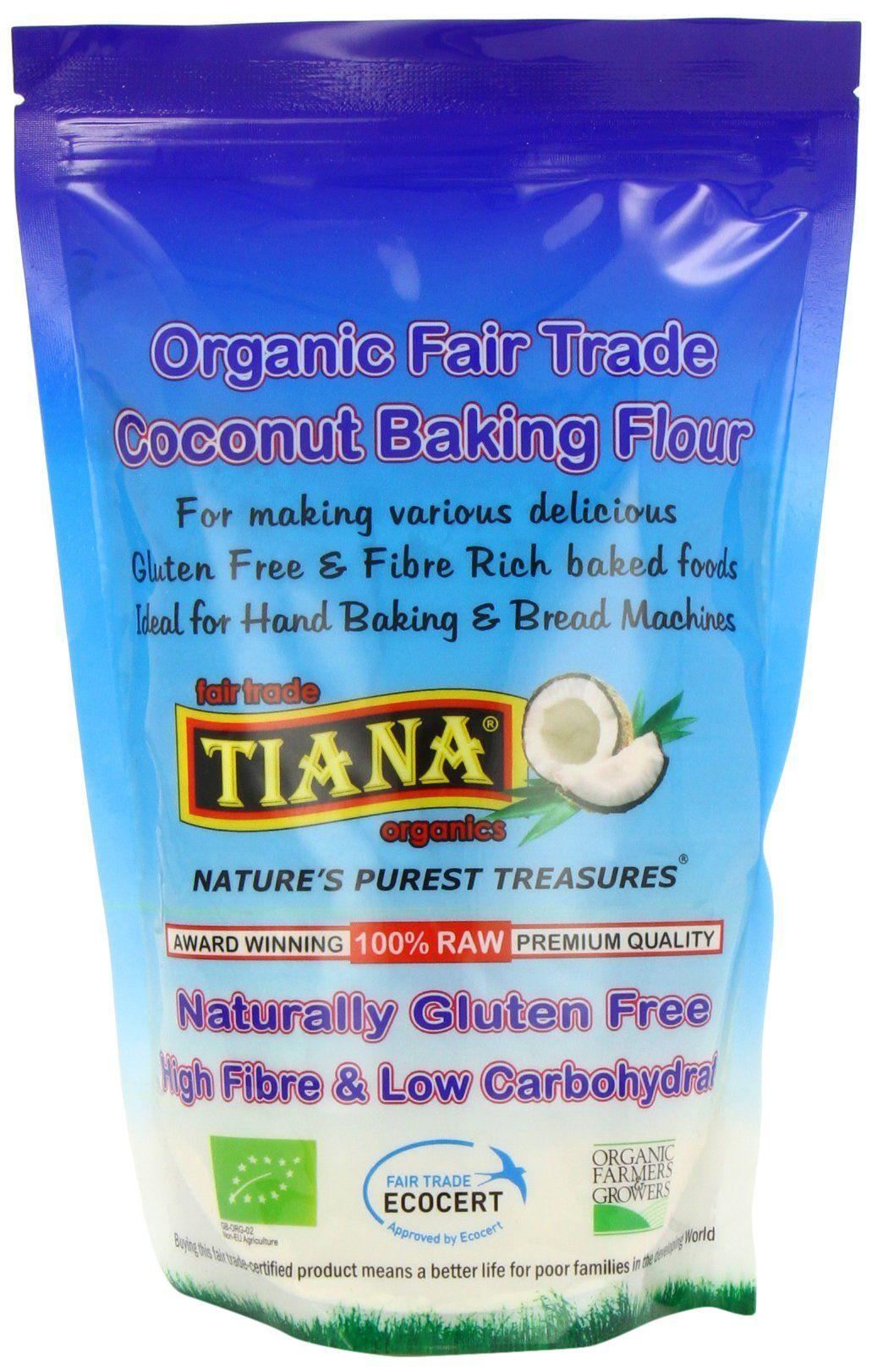 Tiana Organic Fairtrade Coconut Flour 500 g: Amazon co uk