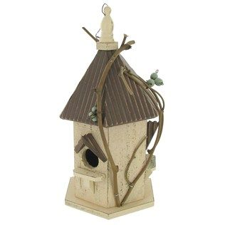 Hobby Lobby Wood Birdhouse With Twigs 7 49 Like This Is Neutral And Natural