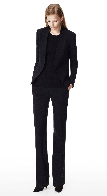 61d6464b62 THEORY Black Lanai Jacket & Emery 2 Pant in Urban Wool Blend | Style ...