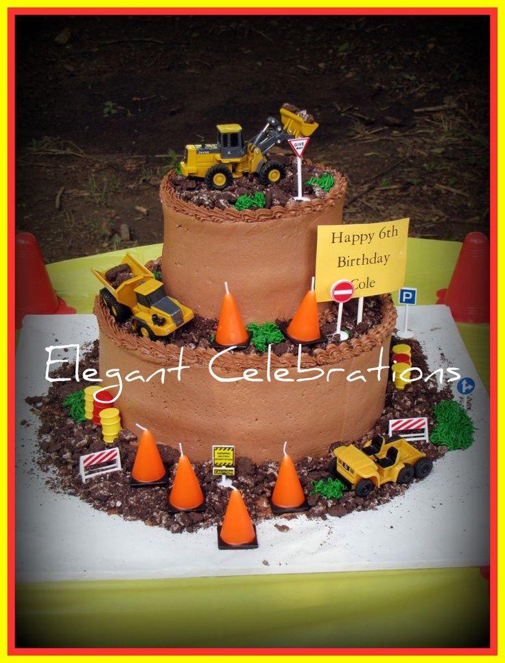 2 Tier Construction Birthday Cake construction cakes Cakes